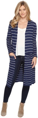 Life is Good - Double Pocket Long Cardigan Women's Sweater $88 thestylecure.com
