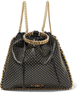 Balmain Blink Studded Leather Backpack - Black