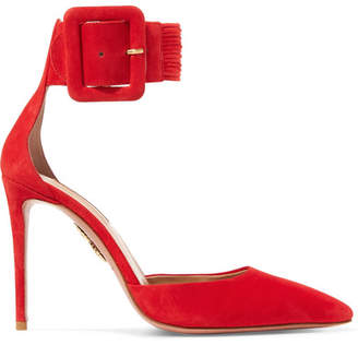Aquazzura Casablanca Suede Pumps - Brick