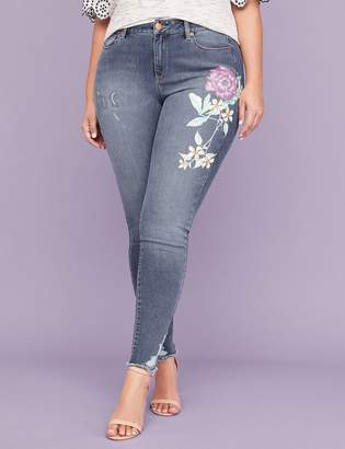 Lane Bryant Ultimate Stretch Skinny Jean - Floral Graphic