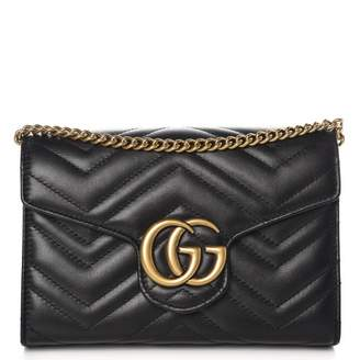 Gucci Marmont Wallet on Chain Matelasse Black
