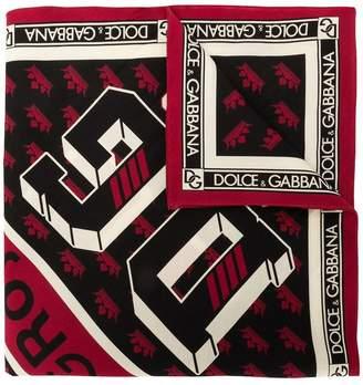 Dolce & Gabbana King print scarf