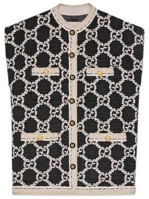 Gucci GG tweed sleeveless vest