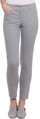 Akris Mid-Rise Skinny-Leg Cotton-Stretch Pants