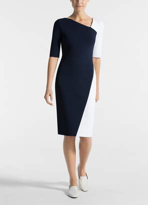 St. John Luxe Sculpture Knit Dress
