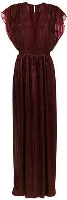 À La Garçonne pleated long dress