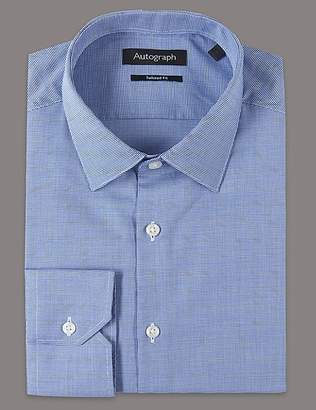 Marks and Spencer 2in Longer Pure Cotton Tailored Fit Shirt
