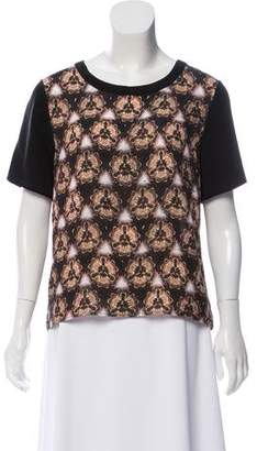 Prabal Gurung Kaleidoscope Silk Top