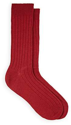 Barneys New York Men's Ribbed Wool-Cashmere Mid-Calf Socks