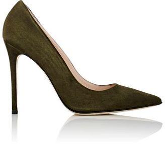 Barneys New York Women's Pointed-Toe Pumps-DARK GREEN $295 thestylecure.com