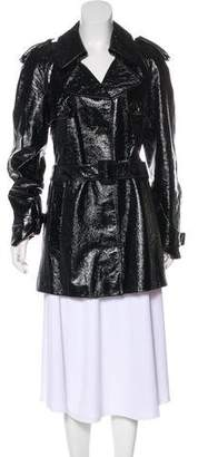 Tod's Patent Leather Short Coat