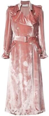 Fleur Du Mal metallic trench coat