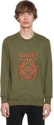 Loewe Anagram Embroidery Cotton Crewneck