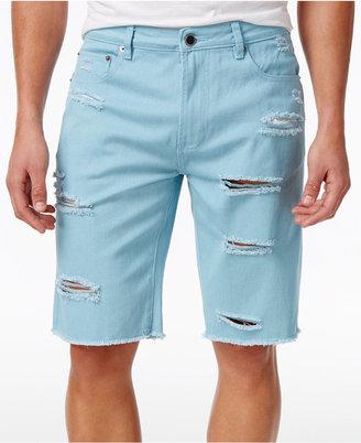 LRG Men's Big & Tall On Deck Destroyed Denim Cotton Shorts $54 thestylecure.com