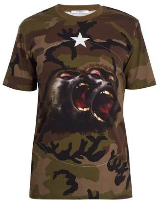 Givenchy Monkey brothers camo cotton T-shirt