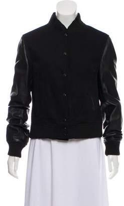OAK Leather Bomber Jacket