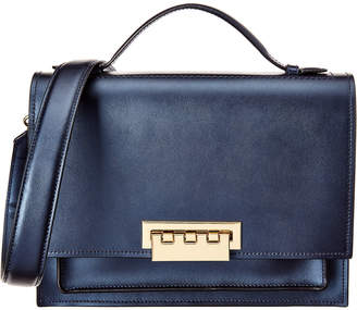 Zac Posen Earthette Large Accordion Leather Shoulder Bag