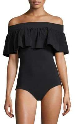 Chiara Boni La Petite Robe One-Piece Off-The-Shoulder Swimsuit