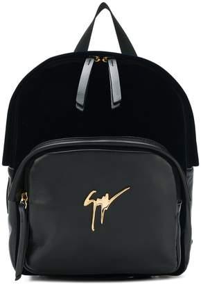 Giuseppe Zanotti Design logo plaque backpack