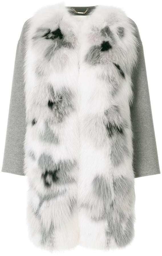 Fendi appliqué coat