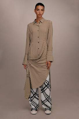 Topshop **Checked Gathered Shirt Dress by Boutique