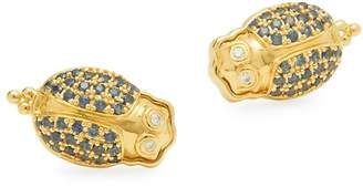 Temple St. Clair Women's Diamond, Crystal and 18K Yellow Gold Stud Earrings
