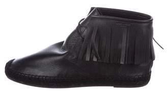 Saint Laurent Fringe Espadrille Chukka Boots