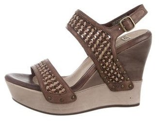 UGG Australia Assia Wedge Sandals $70 thestylecure.com