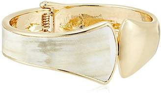 "Robert Lee Morris Neutral Territory"" Sculptural Hinged Bangle Bracelet"