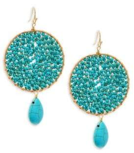 Panacea Crystal and Turquoise Beaded Drop Earrings