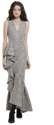 Alice + Olivia Birch V-Neck Ruffle Maxi Dress