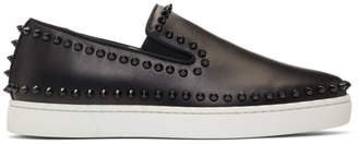 Christian Louboutin Black and White Pik Boat Sneakers