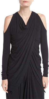 Urban Zen Crossover Cold-Shoulder Tunic