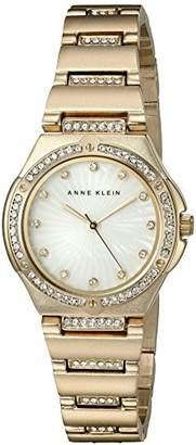 Anne Klein Women's AK/2416MPGB Swarovski Crystal Accented -Tone Bracelet Watch