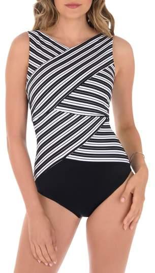 R) Mayan Stripe One-Piece Swimsuit