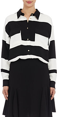 Lanvin Women's Striped Utility Blouse $1,550 thestylecure.com