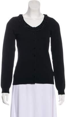 Blumarine Wool-Blend Long Sleeve Cardigan Black Wool-Blend Long Sleeve Cardigan