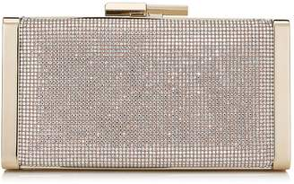 Jimmy Choo J BOX Nude Crystal Hotfix Clutch Bag