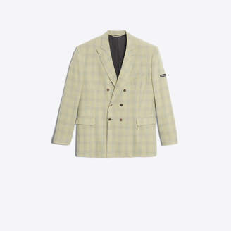 Balenciaga Wool checked double breasted jacket