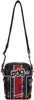 Dolce & Gabbana Black Graffiti Camera Bag