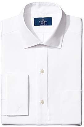 Buttoned Down Men's Classic Fit French Cuff Spread-Collar Non-Iron Dress Shirt