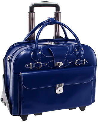 McKlein McKleinUSA Roseville 15.4 Leather Fly-Through Checkpoint-Friendly Detachable -Wheeled Laptop Briefcase