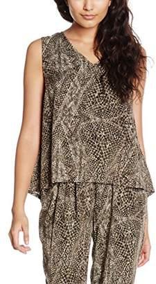 Vero Moda Women's VMNEWMAKER Lace Tank TOP GE Vest, Multicoloured (Ivy Green), (Manufacturer Size: Small)