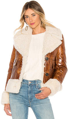 Yves Salomon Meteo Lamb Leather Jacket
