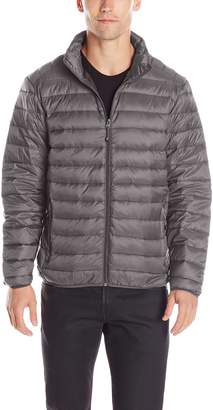 Hawke & Co Men's Packable Down Puffer Jacket with Shoulder Stitching