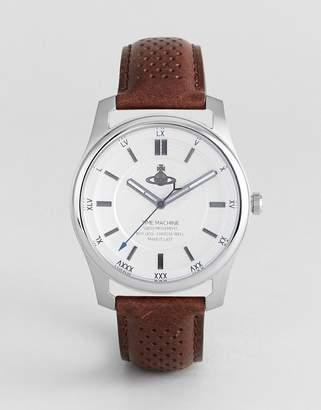 Vivienne Westwood VV185SLBR Holborn II Leather Watch In Brown