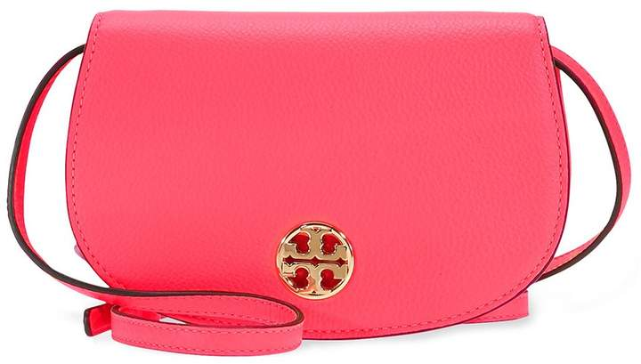 Tory Burch Jamie Leather Clutch - Dahlia Pink - ONE COLOR - STYLE