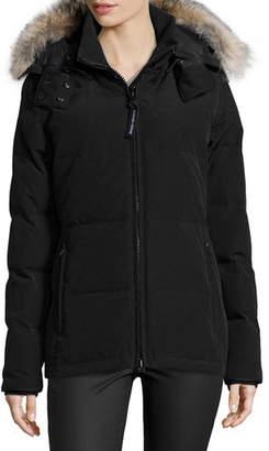 Canada Goose Chelsea Fur-Hood Parka Coat $800 thestylecure.com