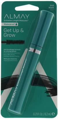 Almay One Coat Get Up and Grow Waterproof Mascara, Black, 0.21 Fluid Ounce