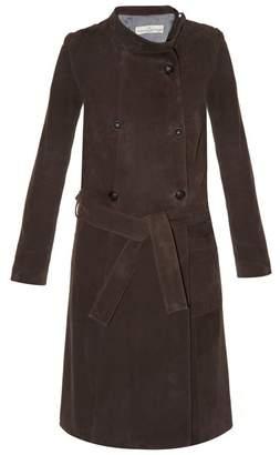 Golden Goose High-neck suede trench coat